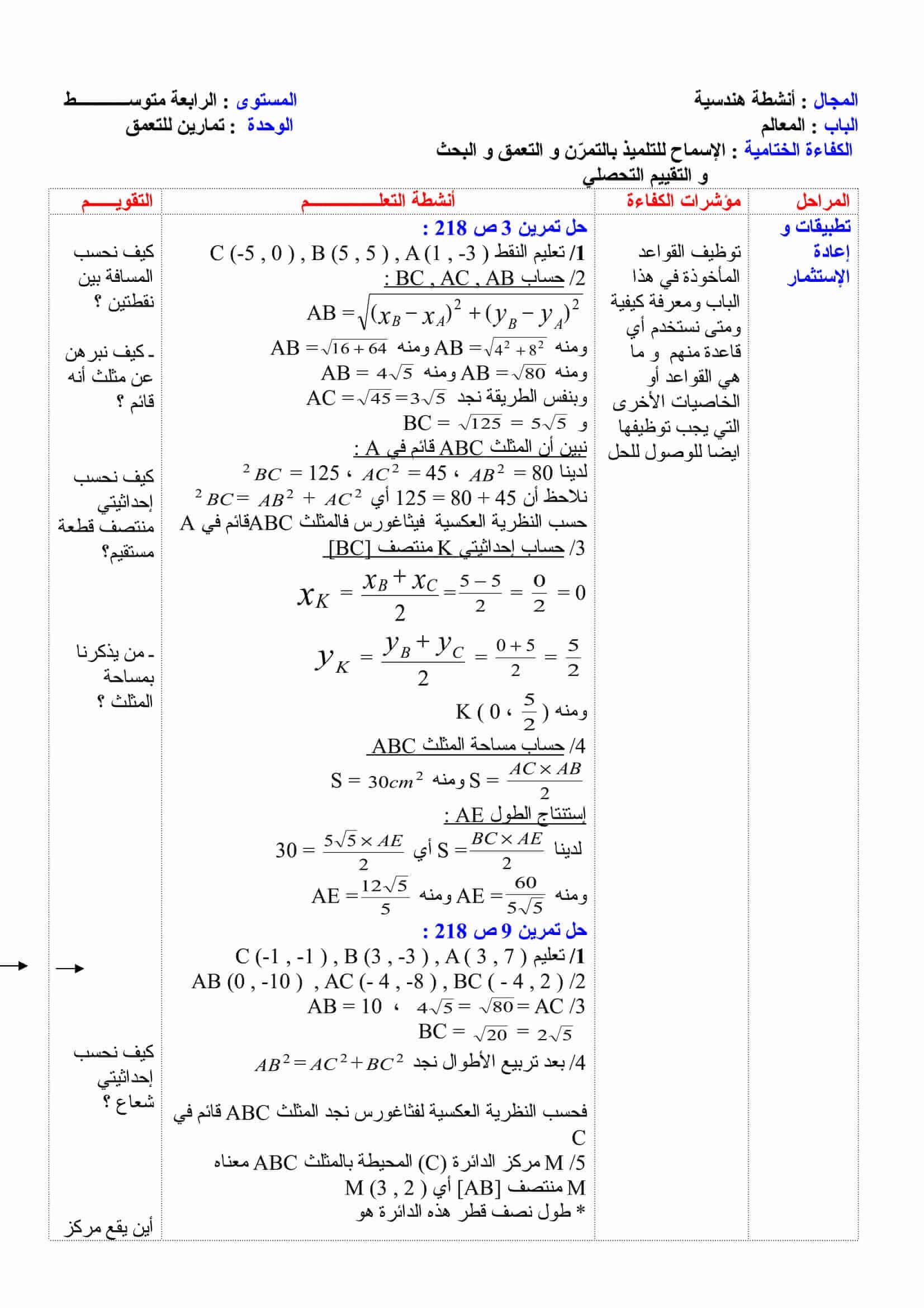 حل كتاب النشاط رياضيات 1 مقررات
