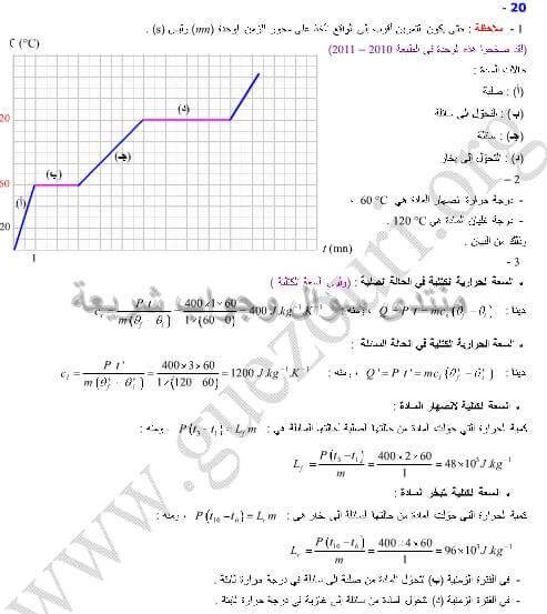 حل تمرين 20 ص 111 فيزياء 2 ثانوي